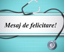 Mesaj de felicitare cu prilejul Zilei  lucrătorului medical și a farmacistului
