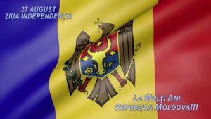 """Mesaj de felicitare  cu prilejul Sărbătorilor Naţionale: """"Ziua Independenţei Republicii Moldova"""" şi """"Limba noastră"""""""