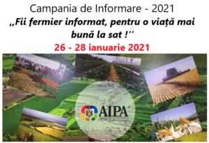 """AIPA organizează campania de informare – 2021 cu sloganul """"Fii fermier informat, pentru o viață mai bună la sat!"""""""