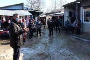 Preşedintele raionului în vizită la Piaţa comercială din oraşul Şoldăneşti